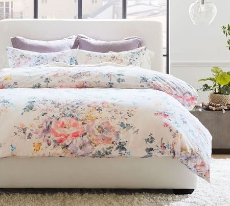 Kinsley Floral Organic Cotton Quilt Cover Pillowcases In 2020 Organic Cotton Duvet Cover Duvet Covers Cotton Duvet Cover