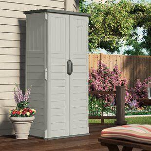 Outdoor Patio Storage Cabinet Wayfair Tool Sheds Outdoor