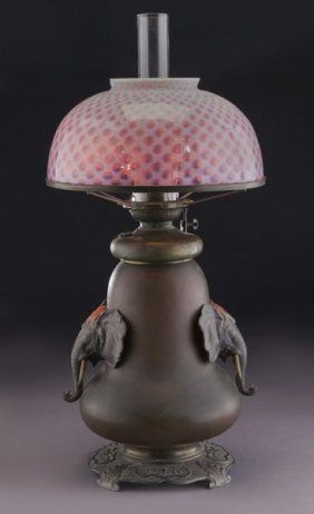 Bradley & Hubbard Arts & Crafts Oil Lamp                              …