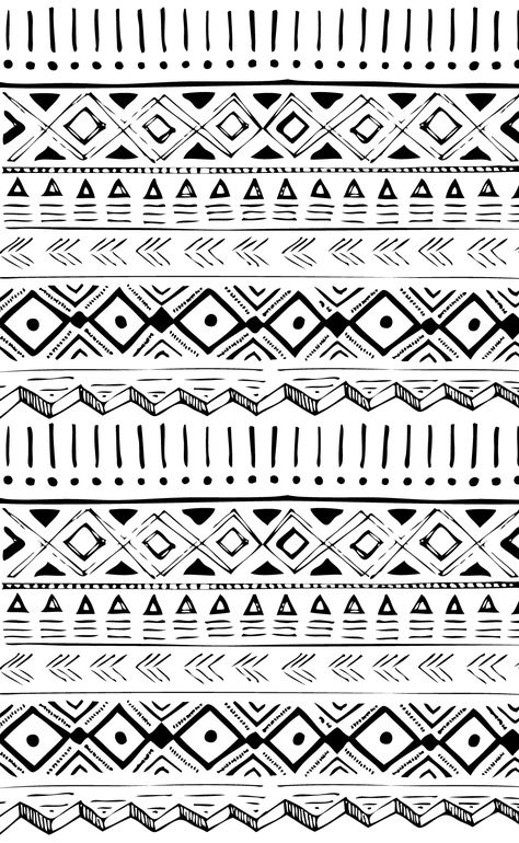 LITTLE WARRIOR A more playful approach to primal prints / Touch of tribal to these designs / Applies to placements and repeats / The main shape is the svelte triangle / Create a center star with pencil-textured diamonds / Simple markings in black and white also echo the tribal roots of this primitive trend