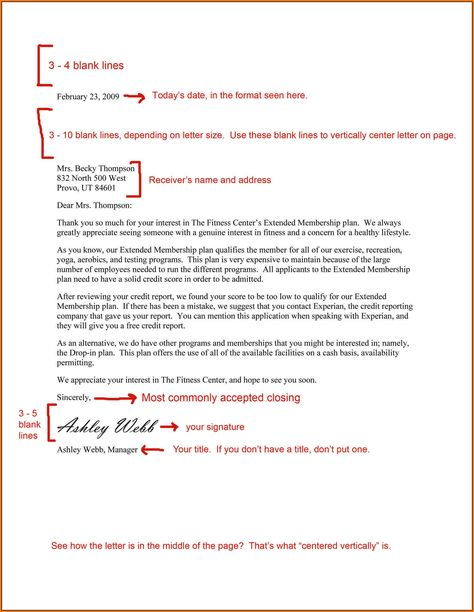 Image result for business letter | Business letter format ...