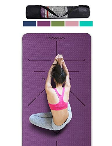 Yawho Yoga Mat Fitness Mat Eco Friendly Material Sgs Certified Ingredients Tpe Specifications 72 X 26 Thickness 1 4 Yogamozart Large Yoga Mat Mat Exercises Essential Yoga
