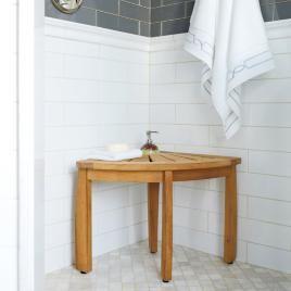 Shaving Pedestal Shower Seat Corner Shower Seat Teak Bathroom