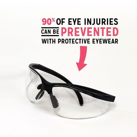 90% of eye injuries can be prevented with protective eyewear! Wearing protective eyewear is easy and painless, it is worth it 👍🏼  . . . #LOEC #LakeOconee #EyeCare #Eye #Health