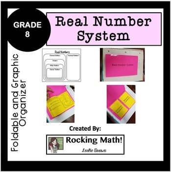 This Foldable Is A Great Way To Introduce Students To The Real Number System It Provides The S Real Number System Graphic Organizers Math Interactive Notebook