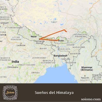 Cordillera Del Himalaya Mapa.Suenos Del Himalaya Viaje A Nepal Butan Y Tibet Himalaya