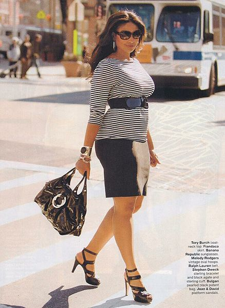 {Pretty in Stripes} REAL Curvy Girl Inspiration from Plus size model Anansa Sims