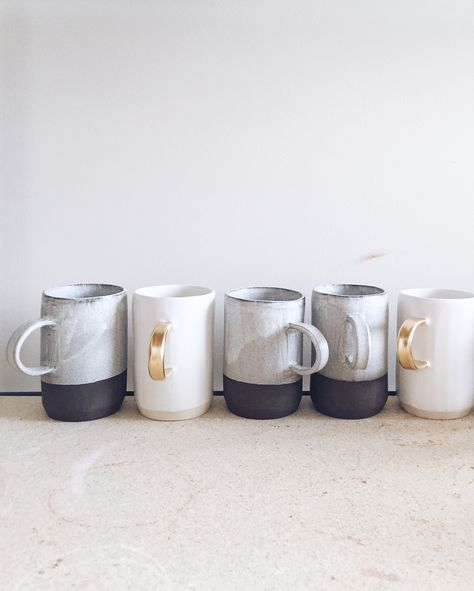 bella-illusione:  I love these mugs! I want them.arrowandsage:My big, shiny, beautiful new kiln is up and firing like a boss.  I can't even. Cannot. // Chugging along on this Monday.
