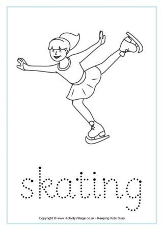Winter Olympics Handwriting Worksheets Winter Olympics Sports