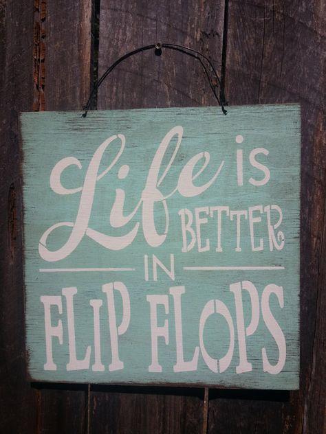 beach decor beach house flip flop sign beach by FarmhouseChicSigns
