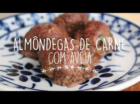 Almondegas De Carne Com Aveia Com Imagens Ideias Bolo De