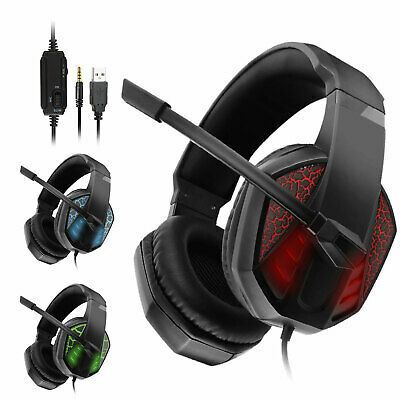 Pro Gamer Mic Gaming Headset Stereo Bass Surround Headphone For Ps4 Xbox One Pc Gaming Headphones Headphones For Ps4 Headphones