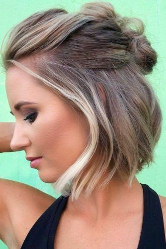 Short Hairstyles For A Christmas Party Lovehairstyles Com Thick Hair Styles Hair Styles Up Hairstyles