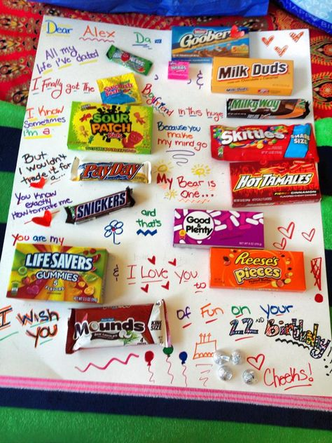 My boyfriend's candy card! :)