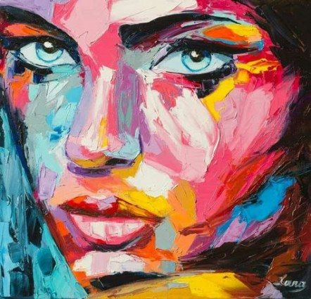 34 Ideas For Painting Acrylic Portrait Inspiration Nature Paintings Acrylic Abstract Portrait Painting Acrylic Painting Inspiration