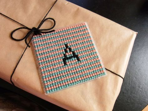 The Bellwether - Super Simple Plastic Canvas Gift Tag Tutorial