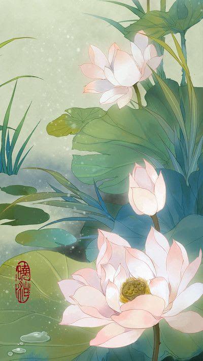 Fleurs De Lotus Peinture De Lotus Peintures Asiatiques