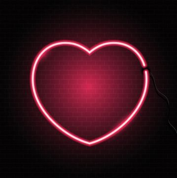 Neon Heart On Brick Wall Texture 2502 Png And Vector Textured Walls Texture Background Hd Brick Wall