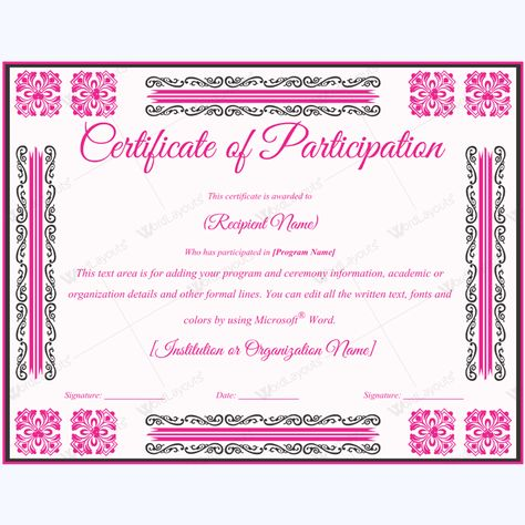 Participation Certificate #certificate #certificatetemplate   Army  Certificate Of Appreciation Template  Army Certificate Of Appreciation Template