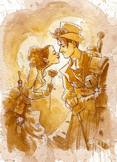 Valentine by Brian Kesinger - Valentine Painting - Valentine Fine Art Prints and Posters for Sale
