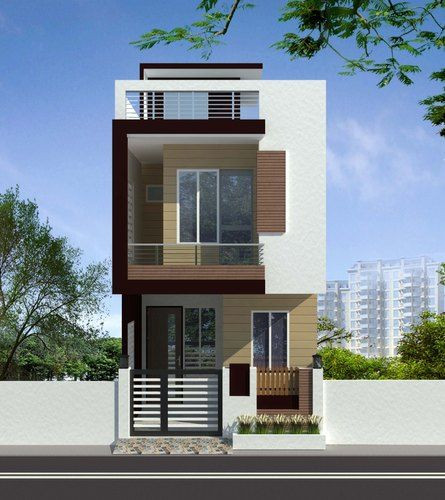 Small Duplex House Elevation in Noida