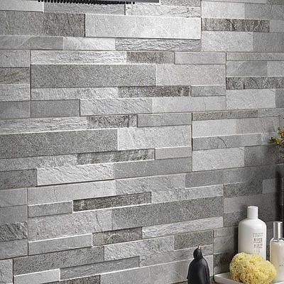 Split Face Effect Porcelain Feature Wall Tiles Stone Cladding