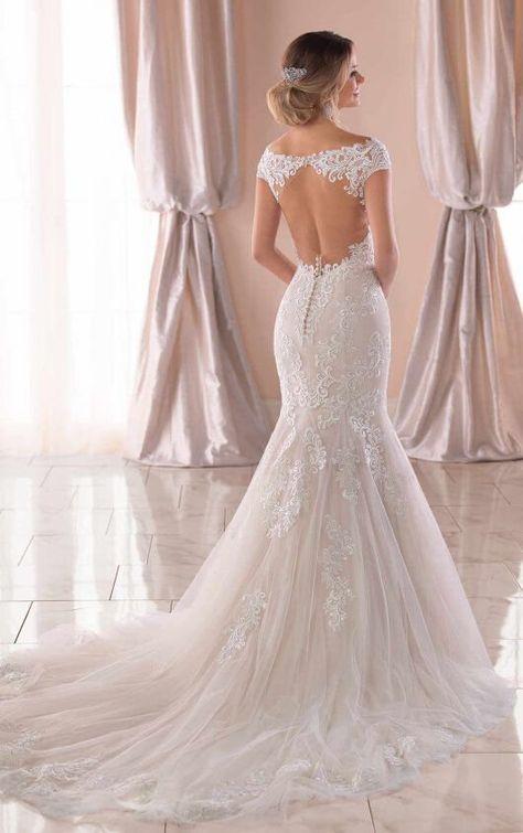 Vestiti Da Sposa Stella York.Mermaid Wedding Dress With Modern Keyhole Back Stella York