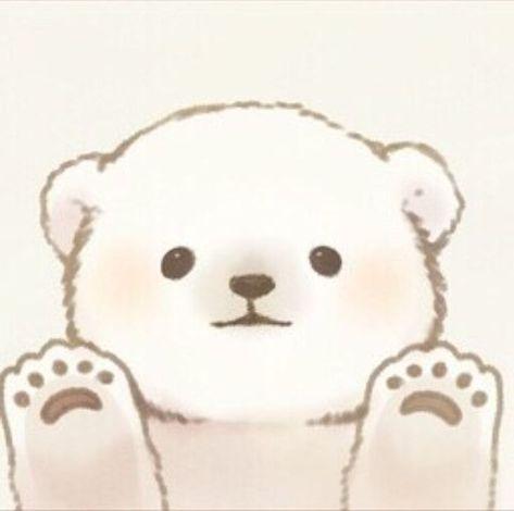 cute kawaii polar bear cub illustration