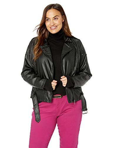 Yoki Girls Black Faux Leather Short Jacket With Faux Fur
