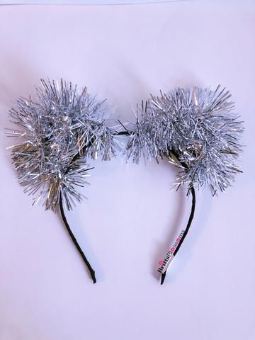 Silver Tinsel Kitty Silver Tinsel Tinsel Music Festival Accessories