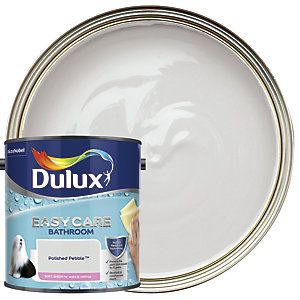 Dulux Easycare Bathroom Polished Pebble Soft Sheen Emulsion Paint 2 5l Dulux Soft Sheen Dulux Bathroom Paint