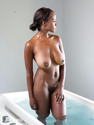 Consider, nude ebony taking bath question