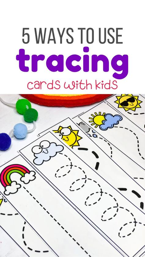 5 Ways to Use Tracing Cards with Kids