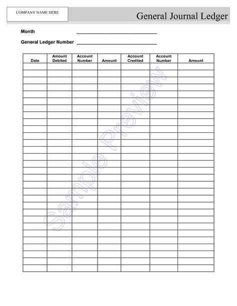 blank self employment ledger sheets - Google Search Concepts - format of general ledger