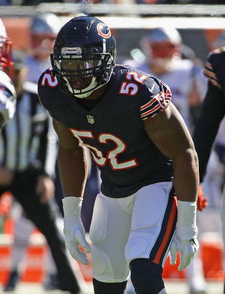 Khalil Mack Photos Photos New England Patriots Vs Chicago Bears Chicago Bears New England Patriots Bear