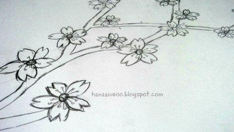 Gambar Ilustrasi Bunga Mudah Lukisan Bunga Bunga Gambar