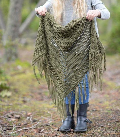Brocade Shawl Crochet pattern by The Velvet Acorn