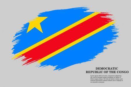 Grunge Styled Flag Democratic Republic Congo Brush Stroke Background Vector In 2020 Congo Flag Democratic Republic Republic Of The Congo