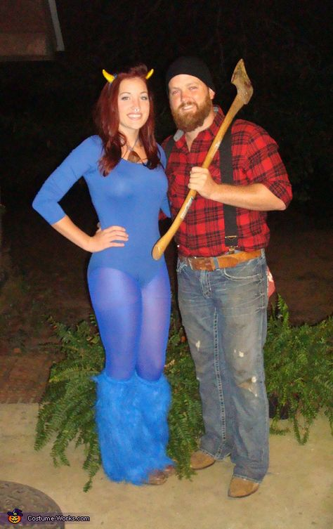 Paul Bunyan and Babe the Blue Ox - Homemade costumes for couples