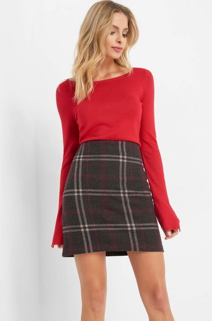 90372438a782f2 Karierter Rock - Rot & Rosa | Outfit ideen | Mini skirts, Outfits ...