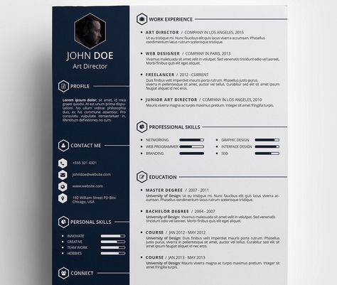 Free Creative Resumé Template by Daniel Hollander Cv template - free creative resume templates word