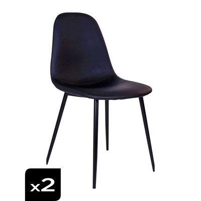 House Nordic Stockholm Lot De 2 Chaises Noir Chaise Noire Chaise Stockholm