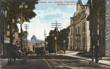 Impression Photomecanique Avenue Dufferin Et Bureau De Poste Sherbrooke Qc Vers 1910 Mp 0000 1031 7 Sherbrooke Quebec Road