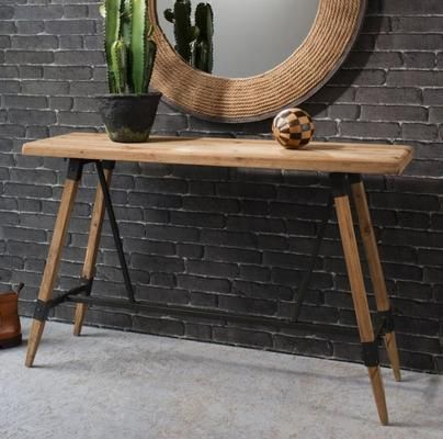 Studio Industrial Trestle Console Table   For Standing Desk | Office |  Pinterest | Metal Accents, Urban Style And Industrial Chic