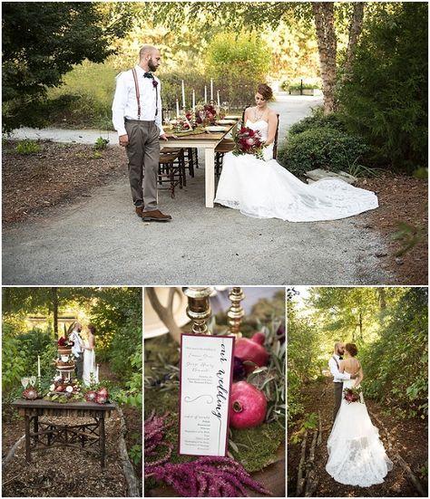 Williamsburg Botanical Garden | Fall Merlot Styled Wedding