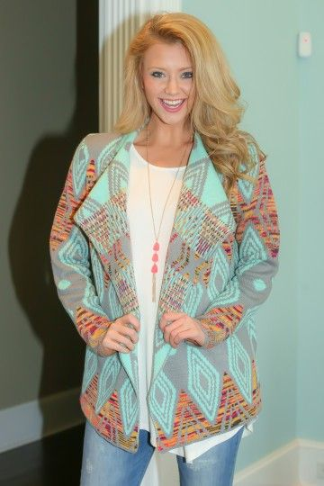 Hello Gorgeous! Must have, Spring print cardigan! Love, love, love! Transition piece!
