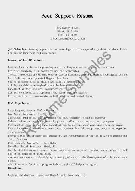 Certified Peer Specialist resume sample encouraging words for - html resume