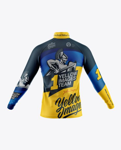 Free Mockups Men S Cycling Jersey With Long Sleeve Mockup Back