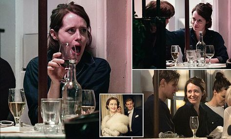 He's still her prince! Claire Foy and Matt Smith catch up in a bar