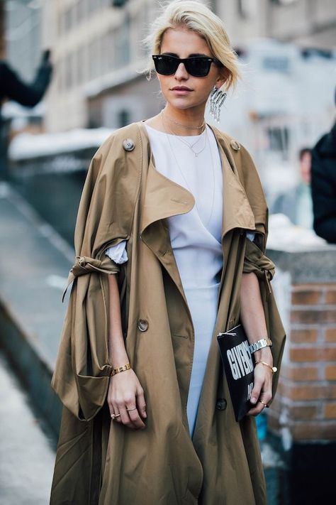 fashionistas The cape style coat stole my...